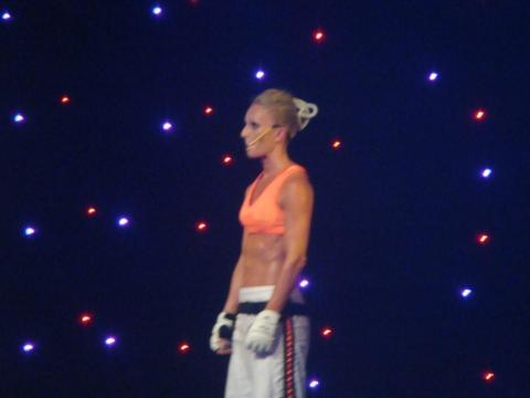 Check out the abs!