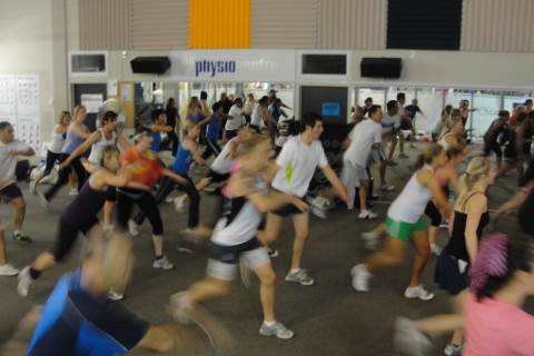 B44 release - t4 - class was so packed peeps were actually out in the weights area - new gym record!