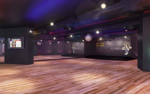 TribeFit main group fitness studio (artist's impression)